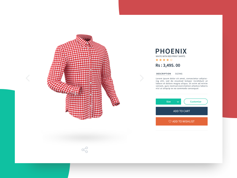 Product Detail Page redesign interface design webpage product page design ui app uxdesign uiux