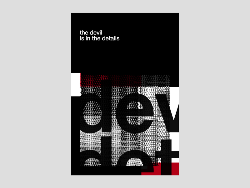 The Devil is in the Details | Poster | Day 6 evil satan poster design visualidentity horns negativespace bold minimalism typography poster swissdesign swissstyle helvetica typography blackandred red dark devil poster brand identity modern