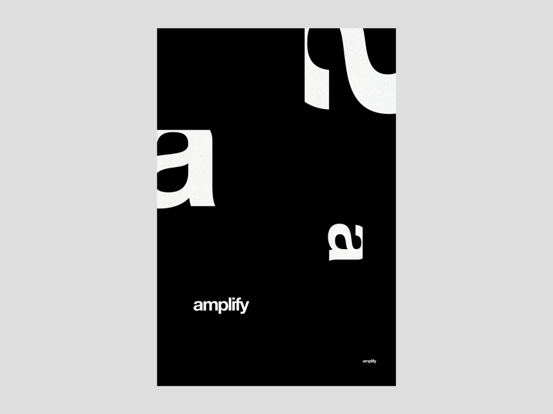 Amplify | poster | day 20 geometry branding clean design experimental typography minimal black and white exo exokim a helvetica typography poster poster modern typography typography swiss poster swiss design swiss style amp amplifier amplify