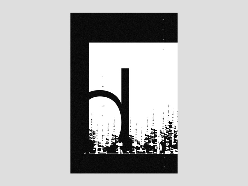 'd' | poster | day 22 modern branding typography poster experimental type geometric black and white minimal helvetica type typography type design graphic design exo exokim swiss design swiss style typedaily dailytype poster d