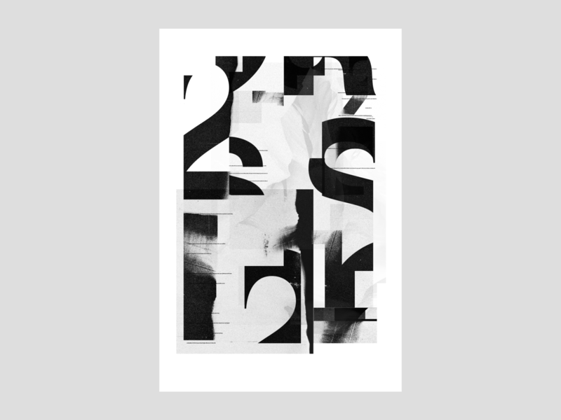 Type exploration | day 25 textured bold type geometric abstract poster design swiss style swiss design graphic design chaos helvetica type exploration typography poster black  white typedaily daily type type design typography exokim modern branding
