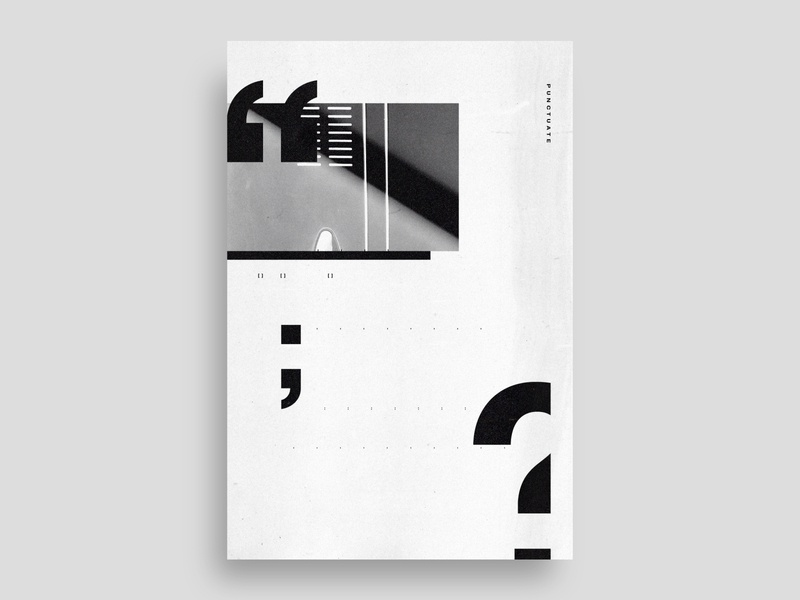 'Punctuate' | day 28 daily type minimalist school poster question mark type typedesign typography poster punctuation blackandwhite experimental type modern design abstract art negative space minimal exokim swiss poster swiss design swiss style typography