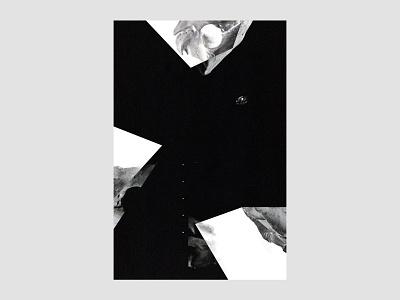 The Chasm   For the heck of   35 collage darkness photomanipulation visual identity graphic design experimental design experimental art poster design poster abstract art black  white blackandwhite dark skeleton skull typography brand identity branding exokim chasm