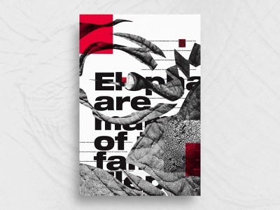 Wrinkle   For the heck of   36 red and black red and white jagged abstract kim barsegyan print design exokim typography design swiss poster typeposter artwork poster design poster wrinkle elephant modern graphic design typography brand identity branding