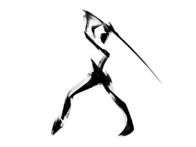 Gesture & figure drawing | 17 fight negative space dynamic pose martial arts stylized charcoal human figure abstract black and white sword digital art sketching exokim drawing figure drawing illustration sillhoutte minimal branding modern