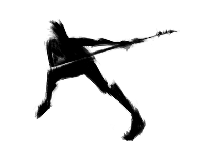Gesture & figure drawing   19 sketching drawing brand identity branding warrior stylized negative space digital art minimal martial arts silhouette spear black and white dynamic graphic abstract sketch modern human figure figure drawing
