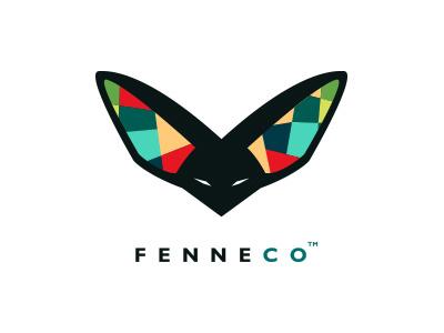 Fenneco sportswear logo design fox logo modern identity startup logo branding modern logo animal logo animal logo design vegan cruelty-free fox fennec agile fast energetic animal-friendly sportswear brand identity logo