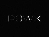 POW X   data analytics   logo concept