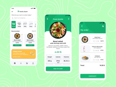 Food Delivery App / UX Design delivery service delivery delivery app deliver food app food and drink food uxui ux ui mobile app design app