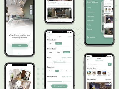 Real Estate Property Finder Mobile App UX/UI Design 2 real estate realestate sell home house rental rent apartments apartment uxui ux ui mobile app design app