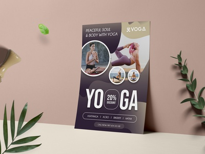 Yoga Flyer medical relax fitness flyer fitness business simple print natural peaceful gym flyer gym modern flyer template flyer yoga class class yoga design yoga flyer yoga template yoga