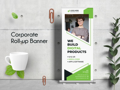 Business Roll Up Banner offer sale creative market pixelpick ad ads billboard poster print minimal business flyer corporate flyer clean rollup design rollup template business rollup corporate rollup rollup banner rollup