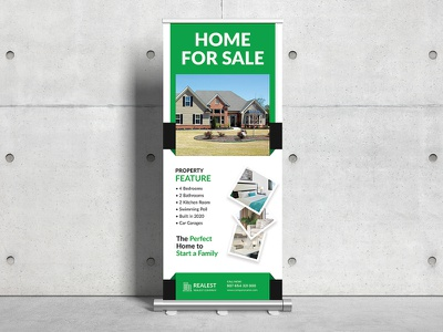 Real Estate Roll-Up Banner Signage stand banner clean agency roll up banner creative roll up banner marketing creative corporate banners advertisement ad rollup corporate roll up business roll up template roll up banner roll up signage roll-up banner realestaterollup