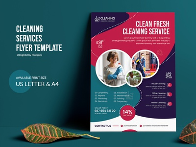 Cleaning Service Flyer Template poster business modern flyer flyer template corporate identity pixelpick creative market color clean corporate flyer business flyer print ready office cleaning home cleaning banner cleaning design idea cleaning idea