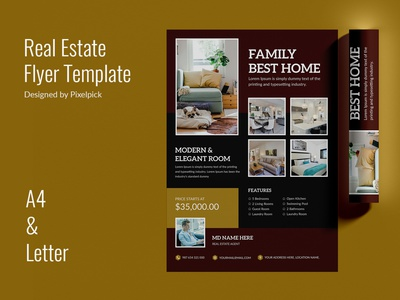Real Estate Flyer Templates rent buy magazine leaflet pamphlet property sale property home realtor open brochure creative market agent home sale house flyer real estate poster realestate banner real estate flyer real estate