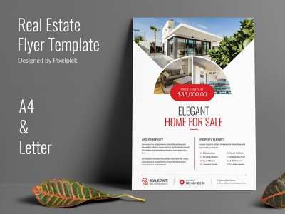 Real Estate Flyer Design leaflet pamphlet property sale property home sale home realtor house open real estate poster real estate banner poster banner ads ad estate flyer template real estate flyer real-estate real estate