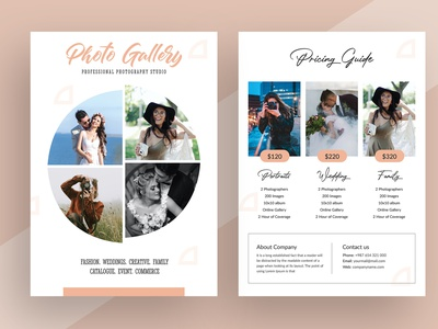 Photography Pricing Guide Flyer corporate pixelpick banner clean corporate flyer print ready photography pricing flyer photography flyer design business print design flyer template flyer photography pricing pricing guide photography flyer photography