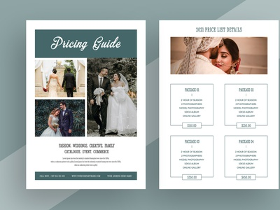 Photography Pricing Guide Flyer flyer template print ready creative market etsy clean both side design wedding pricing list wedding design wedding flyer photography design new flyer a4 flyer both side flyer flyer print template pricing guide flyer pricing guide photography flyer photograph