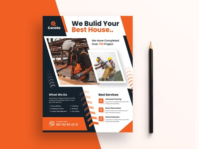 Construction Flyer ads services real estate professional marketing industrial home flyer design flyer template flyer company business building builder construction banner construction design construction template construction flyer construction architecture