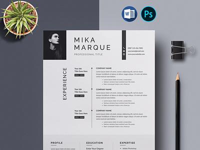 Resume print template template cv template ms word word resume clean modern cv design resume template cv resume