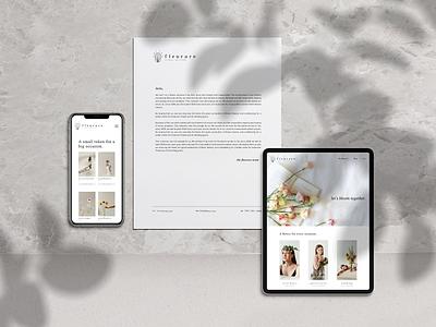 FLEURARE - Florist Branding & Website florist white minimalism minimalist minimal uidesign uiux web webdesign shop flower gray logo graphicdesign design branding brand identity