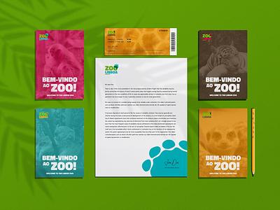 ZOO DE LISBOA - Zoo Rebranding & Wayfinding social media colorful iconography wayfinding sign merchandise animal zoo warm logo graphicdesign design branding brand identity