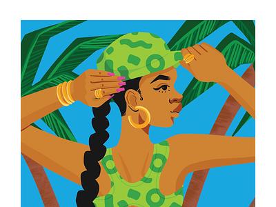 beach girls. design graphic design illustration