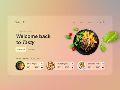 Restaurant Webpage Design Concept ui design restaurant site design web design