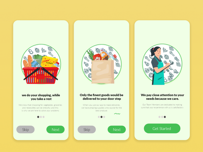 Grocery Shopping- Onboarding screen on-demand online shop grocery app ui design onboarding onboarding screens onboarding ui