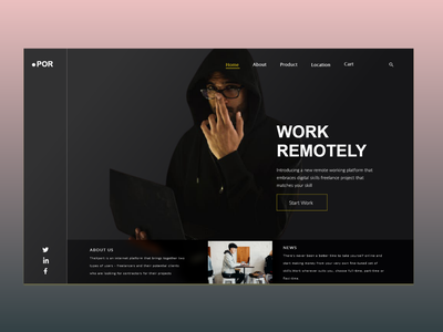 Freelance Platform- Remote work website design agency website landingpagedesign freelancer uiuxdesigner freelance design