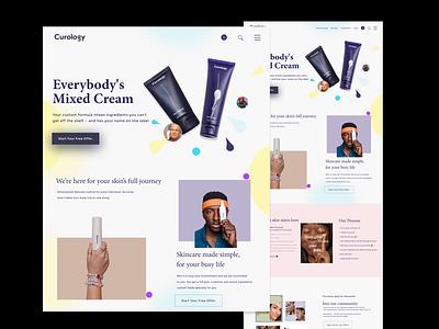Curuology- skincare Brand  Website Design cosmetic website skincare website skincare branding ui ux website design agency website landingpagedesign