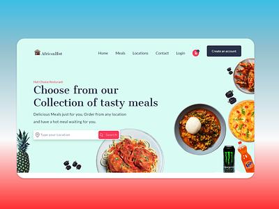 Food Ordering service - Resturant best ui design design app website design african food catering services adobe xd food app food and drink food ordering website resturant food