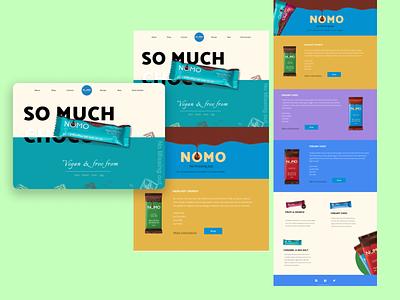Nomo Chocolate Landing page agency website ui inspiration product design brand identity brand design chocolate bar freelancers website designer uidesign landing page website design