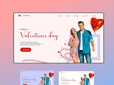 Valentine's Day website hero valentine valentine day valentines day website design design ui ux landingpagedesign agency website