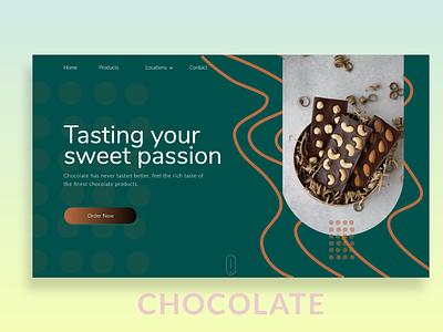 pastry website design hero section design food website chocolate landingpagedesign ui  ux uidesign uiux