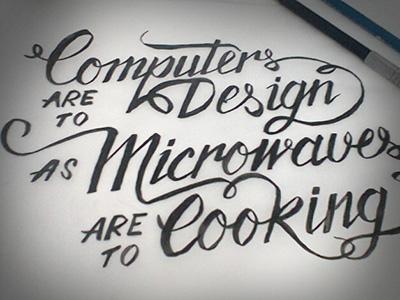 Brush Script - Milton Glaser quote