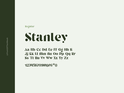 Stanley interface user experience user interface ux ui app design web design graphic design design inspiration design type inspiration free typeface free fonts google fonts typography typeface font font inspiration font of the week fotw