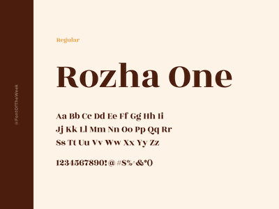 Rohza One interface user experience user interface ux ui app design web design graphic design design inspiration design type inspiration free typeface free fonts google fonts typography typeface font font inspiration font of the week fotw