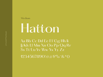 Hatton interface user experience user interface ux ui app design web design graphic design design inspiration design type inspiration free typeface free fonts google fonts typography typeface font font inspiration font of the week fotw