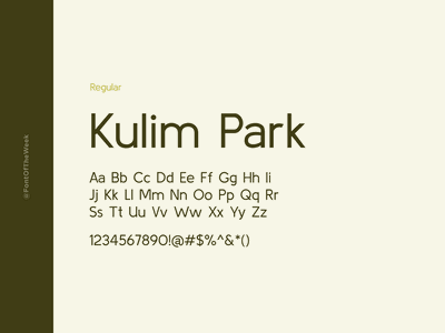 Kulim Park interface user experience user interface ux ui app design web design graphic design design inspiration design type inspiration free typeface free fonts google fonts typography typeface font font inspiration font of the week fotw