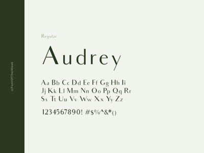 Audrey interface user experience user interface ux ui app design web design graphic design design inspiration design type inspiration free typeface free fonts google fonts typography typeface font font inspiration font of the week fotw