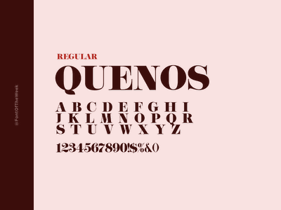 QUENOS interface user experience user interface ux ui app design web design graphic design design inspiration design type inspiration free typeface free fonts google fonts typography typeface font font inspiration font of the week fotw