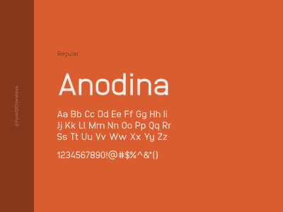 Anodina interface user experience user interface ux ui app design web design graphic design design inspiration design type inspiration free typeface free fonts google fonts typography typeface font font inspiration font of the week fotw