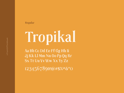 Tropikal interface user experience user interface ux ui app design web design graphic design design inspiration design type inspiration free typeface free fonts google fonts typography typeface font font inspiration font of the week fotw