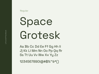 Space Grotesk interface user experience user interface ux ui app design web design graphic design design inspiration design type inspiration free typeface free fonts google fonts typography typeface font font inspiration font of the week fotw