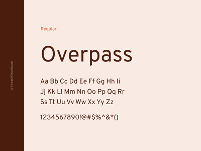 Overpass interface user experience user interface ux ui app design web design graphic design design inspiration design type inspiration free typeface free fonts google fonts typography typeface font font inspiration font of the week fotw