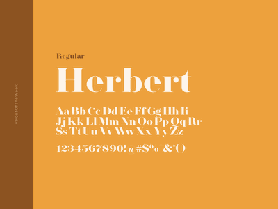 Herbert interface user experience user interface ux ui app design web design graphic design design inspiration design type inspiration free typeface free fonts google fonts typography typeface font font inspiration font of the week fotw
