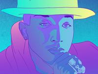 Pharrell Digital Illustration