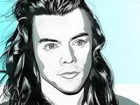 Harry Styles Digital Illustration