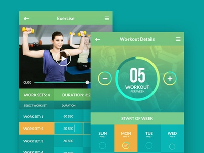 Gym App Design ui ux design wireframes design design ui design wireframes mockups app design